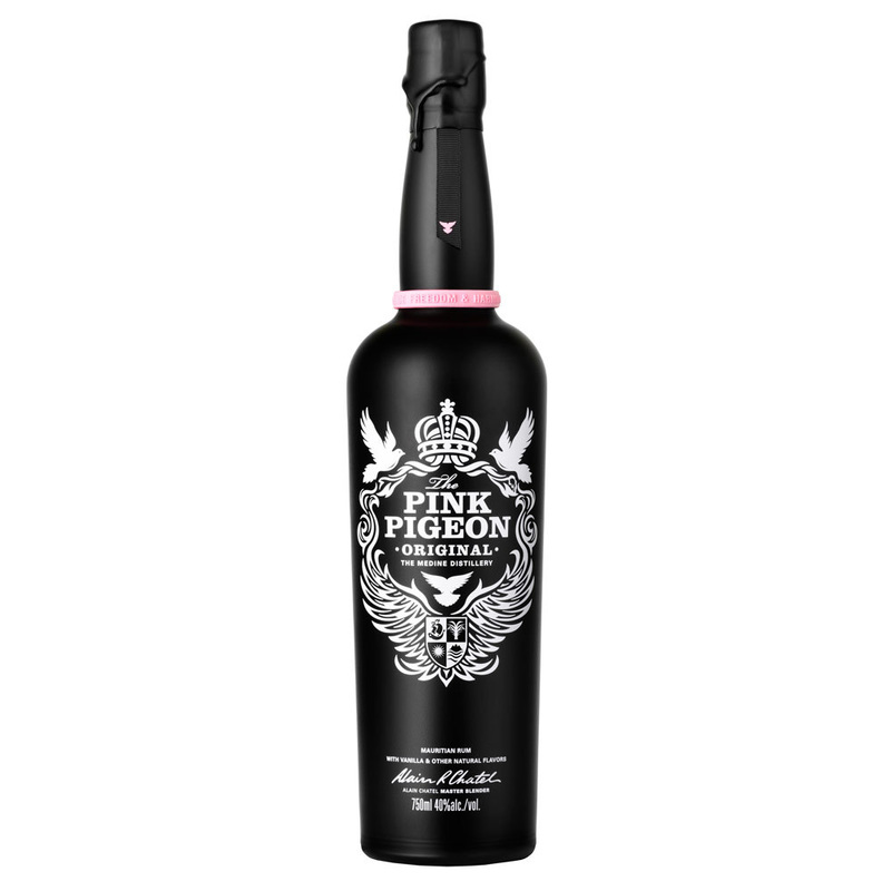 Pink Pigeon Vanilla Rum. A creation of Master Blender Alain Chatel made by Medine.