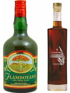 Flamboyant Oak Aged Rum and Chamarel Coffee Liqueur.